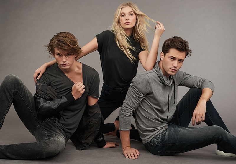Elsa Hosk is joined by models Jordan Barrett and Francisco Lachowski for Mavi's fall-winter 2016 Indigo Move denim campaign.