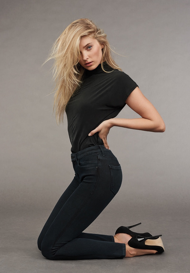Elsa Hosk strikes a sexy pose in Mavi's Indigo Move denim for the brand's fall-winter 2016 catalogue.