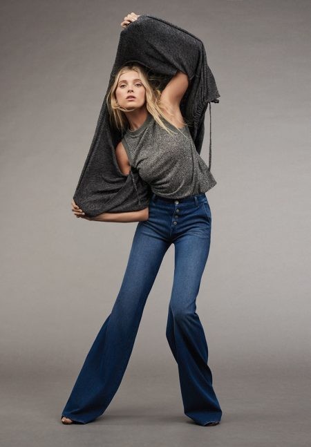 Elsa Hosk Hits All the Right Moves in Mavi Denim