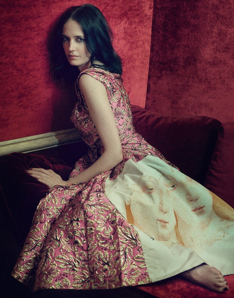 Eva Green Poses in the Most Luxurious Fashions for The Edit