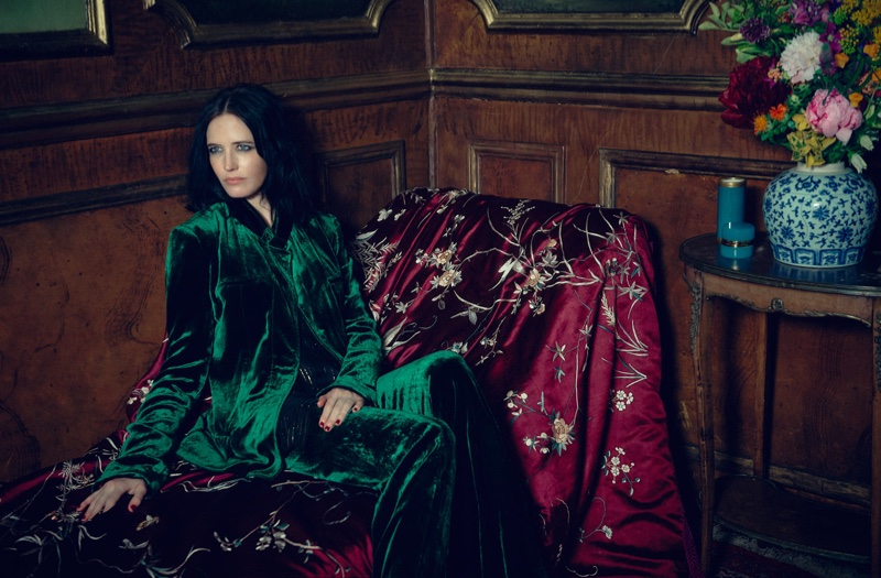 Eva Green suits up in Haider Ackermann jacket and pants