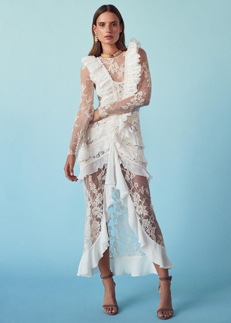 Velvet Wedding Dresses 72 Fabulous  Alessandra Rich Chantilly