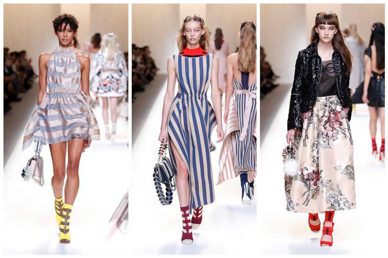 Fendi Embraces Stripes for Spring 2017