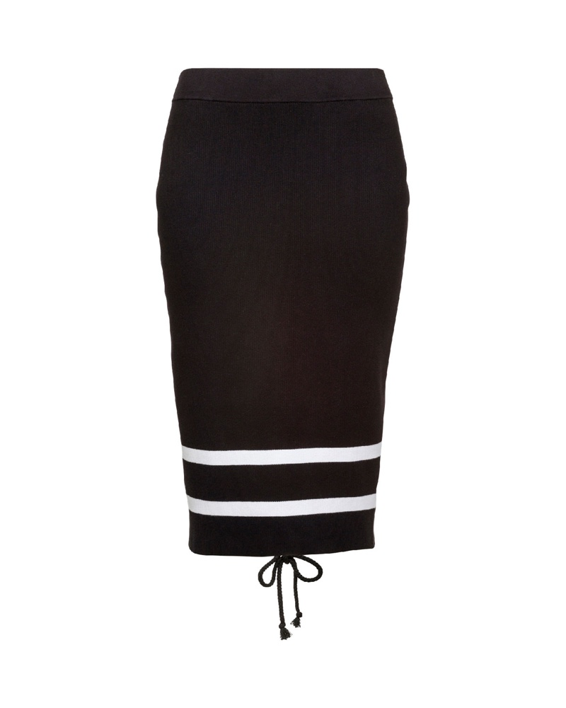 Fenty Puma by Rihanna Striped Knit Pencil Skirt