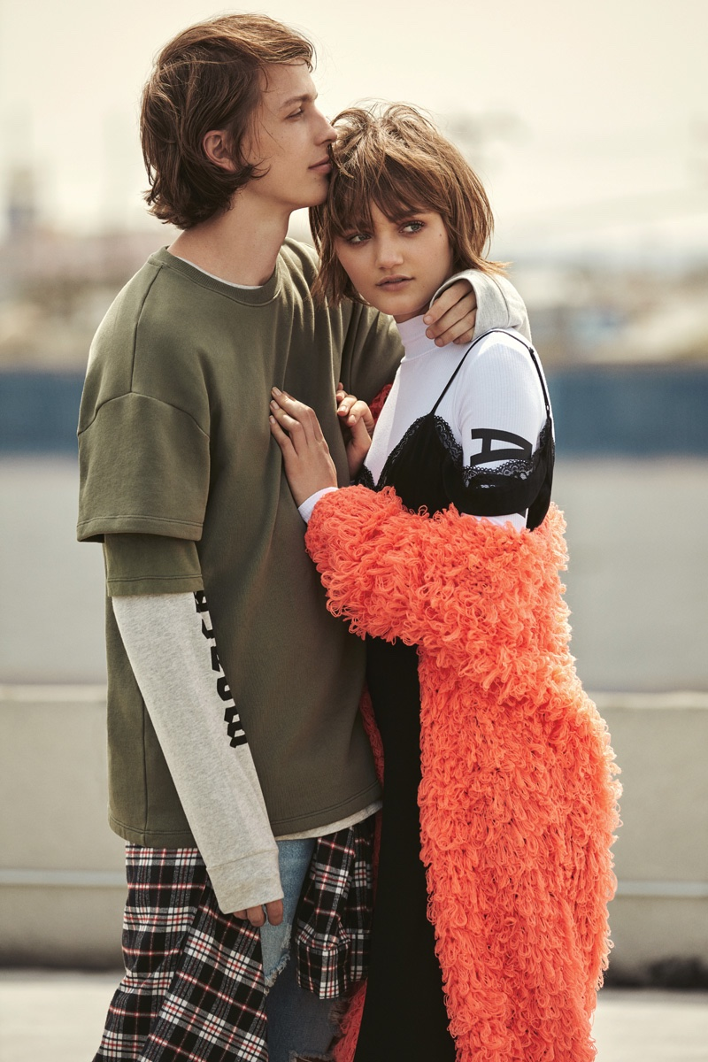 Peyton Knight and Lucas Satherley star in Forever 21's fall 2016 campaign
