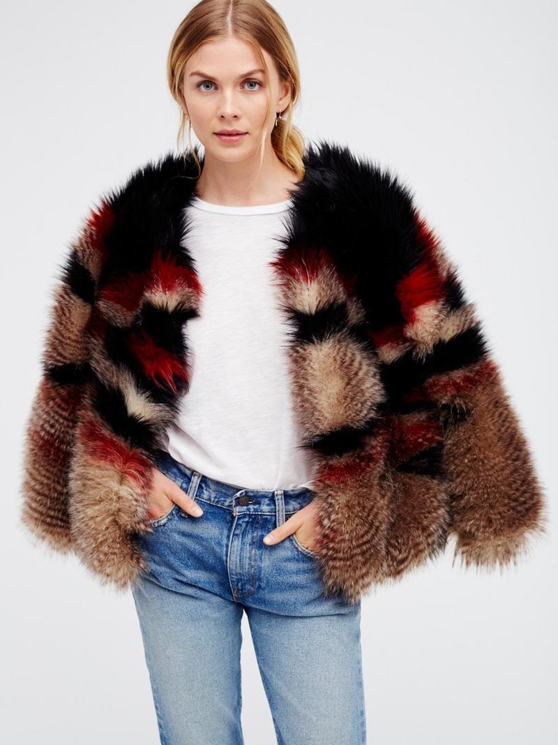 Free People Scarlet Faux Fur Jacket