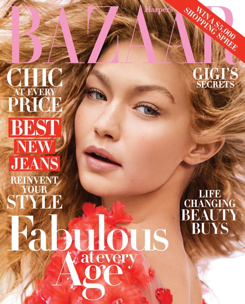 Gigi Hadid on Harper's Bazaar October 2016 Cover