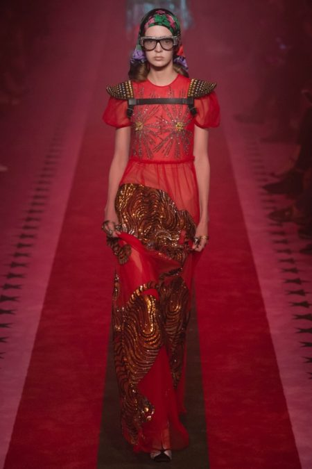 Gucci Brings On the Embroidery for Spring 2017