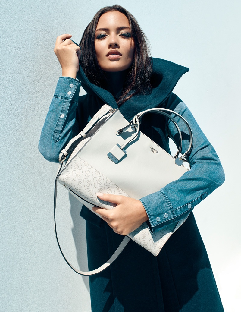Mia Kang stars in Guess Accessories fall-winter 2016 campaign
