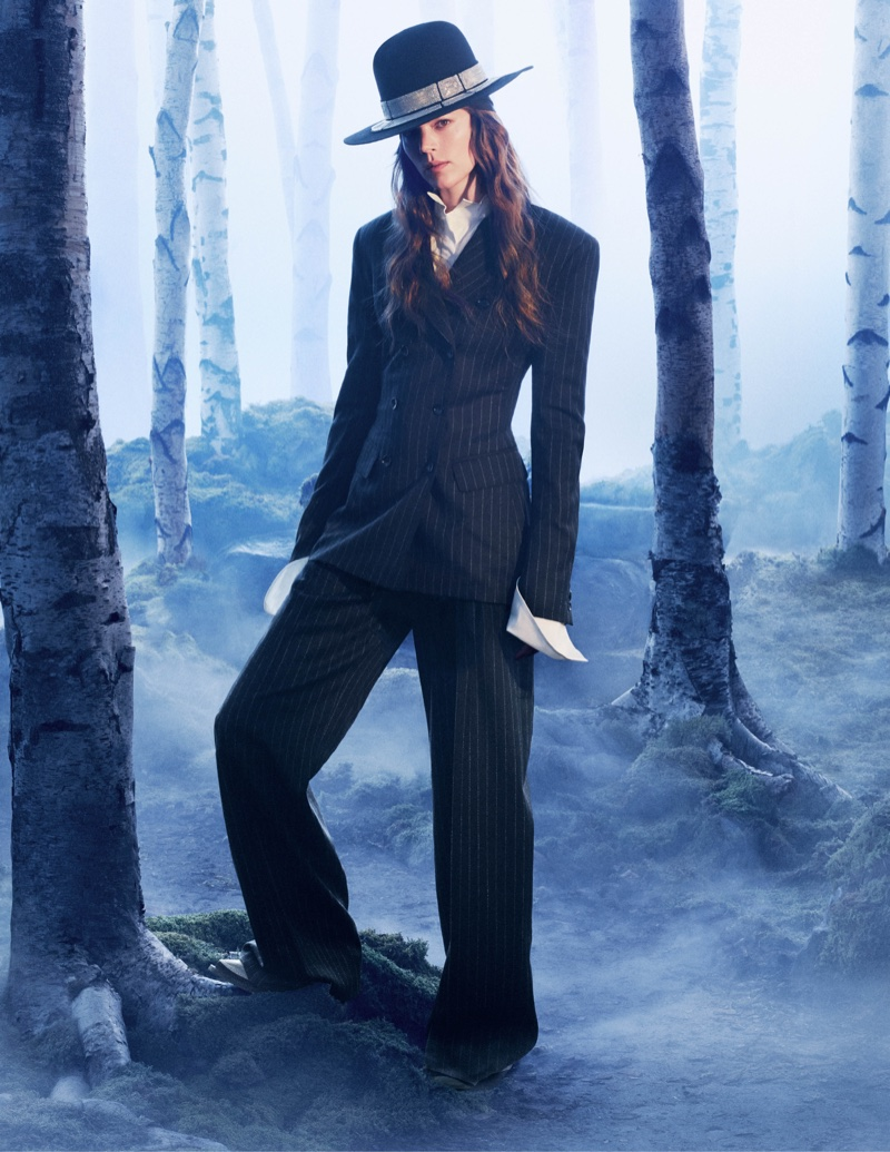 Freja Beha Erichsen suits up in H&M Studio's fall 2016 advertising campaign