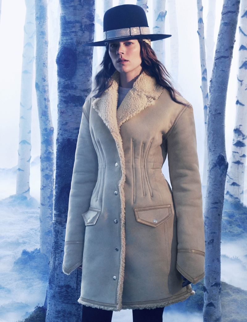 H&M Studio features suede coat in fall 2016 campaign
