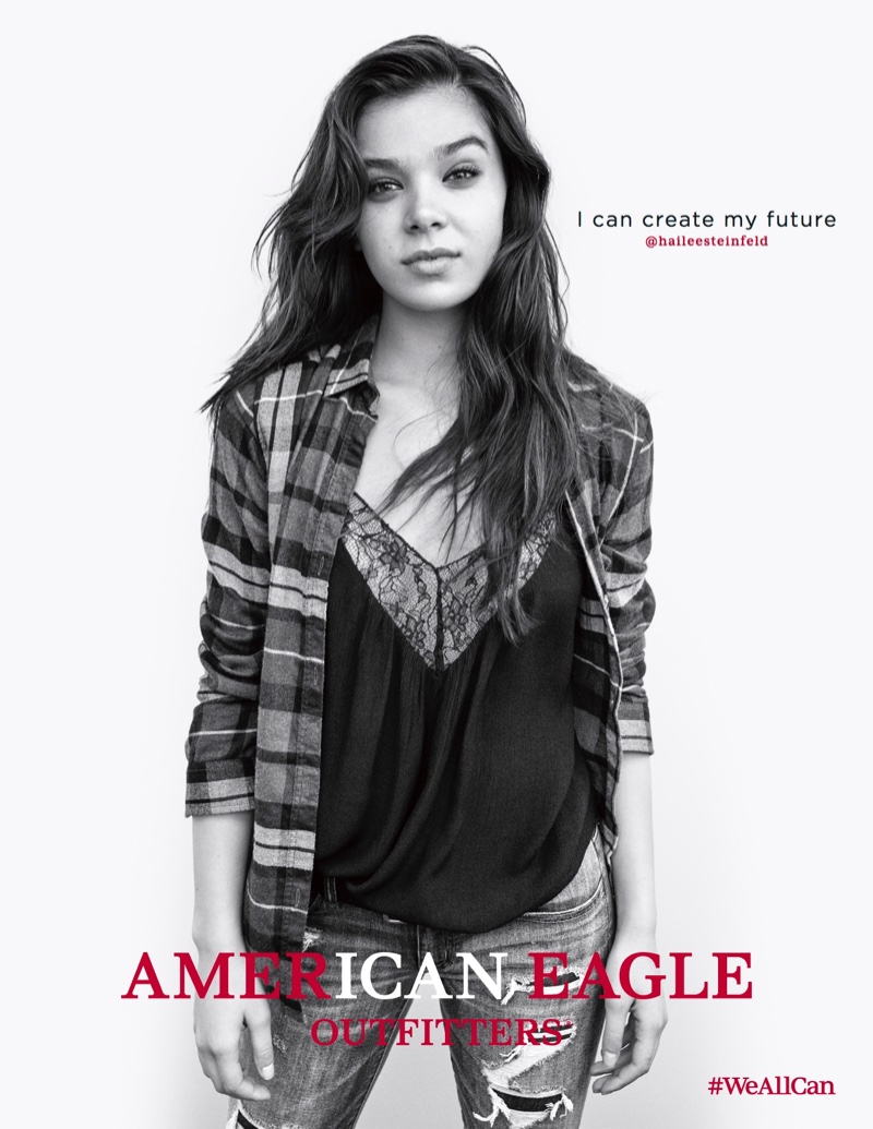 Hailee Steinfeld stars in American Eagle Outfitters' fall 2016 advertising campaign