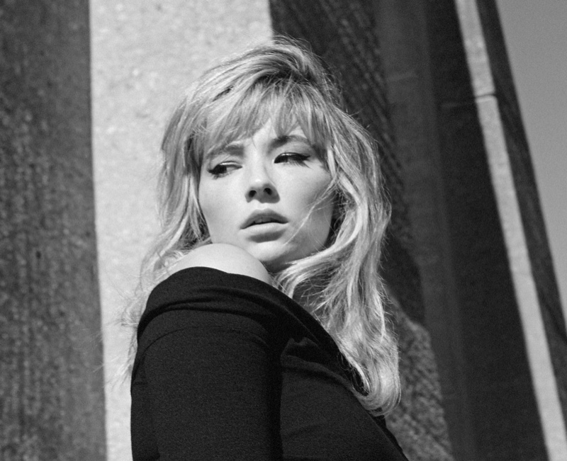 Actress Haley Bennett gets her closeup in Dolce & Gabbana dress