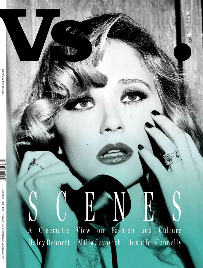 Haley Bennett on Vs. Magazine fall-winter 2016 cover