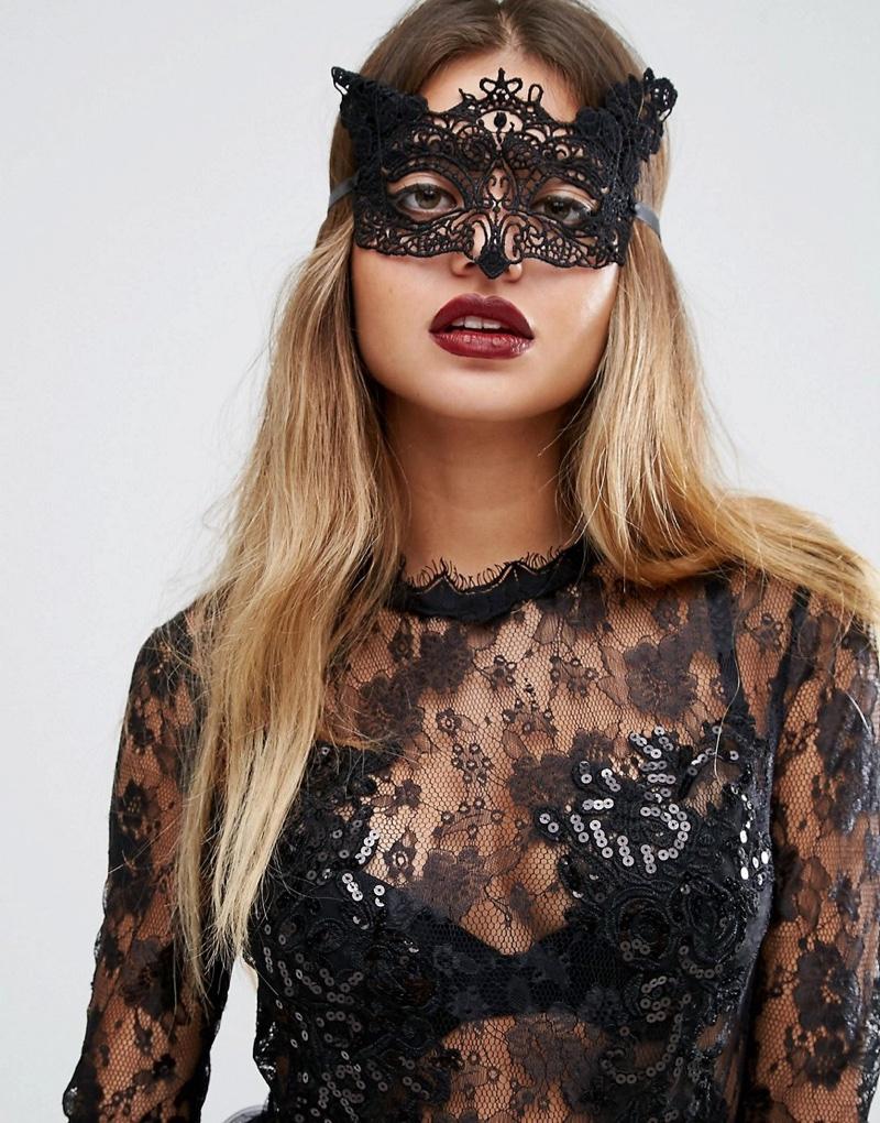 ASOS Halloween Animal Lace Mask
