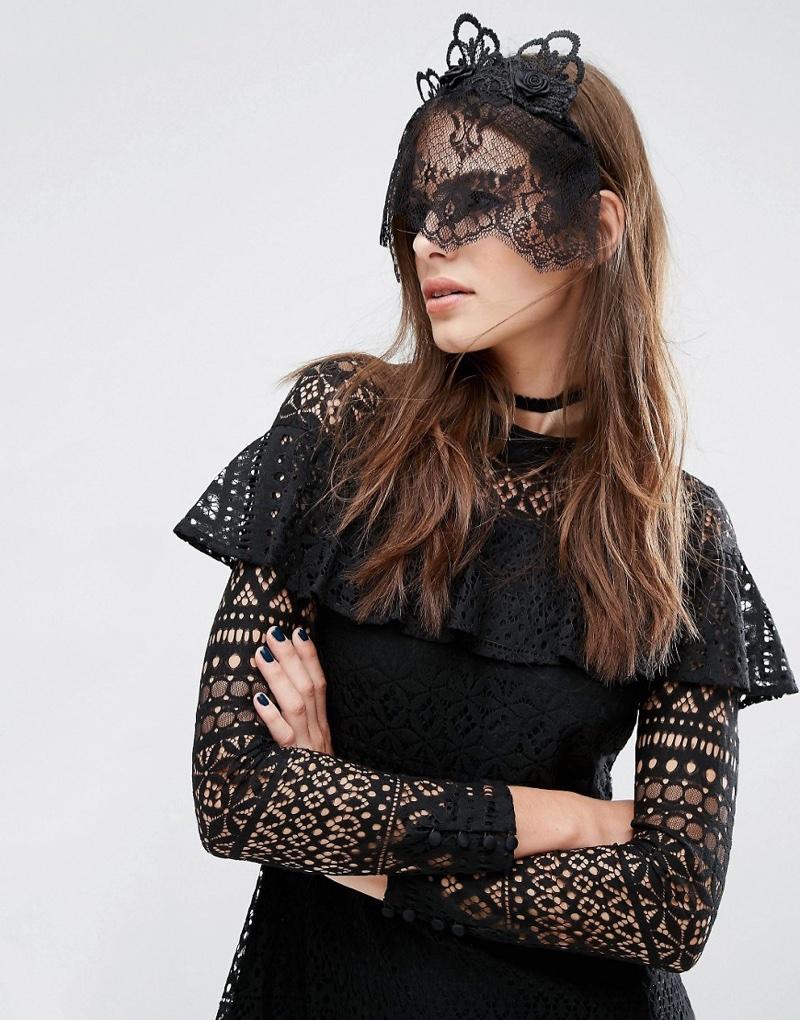 ASOS Halloween Lace Crown Veil Headband