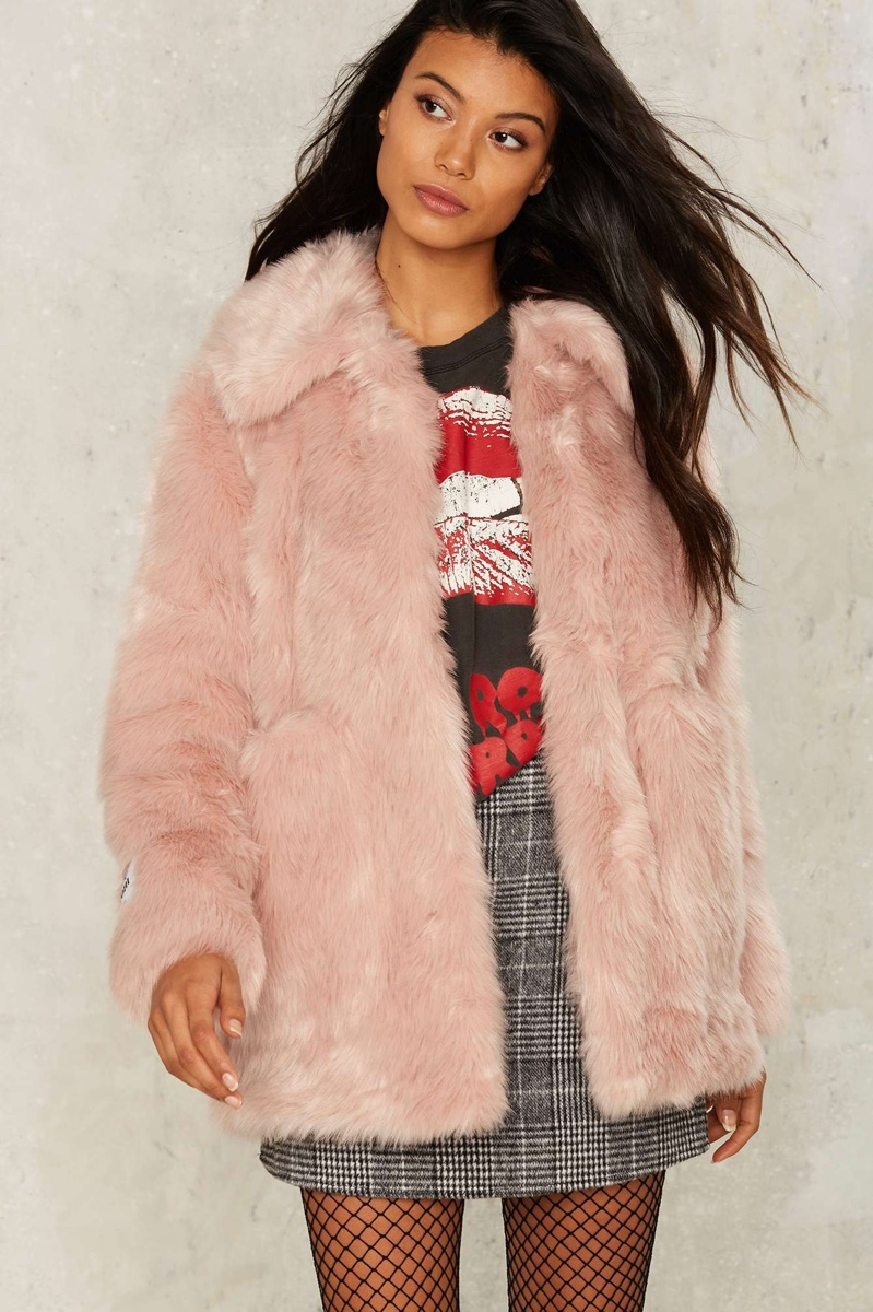 Collection Pink Fur Jacket Pictures - Newyorkfashion