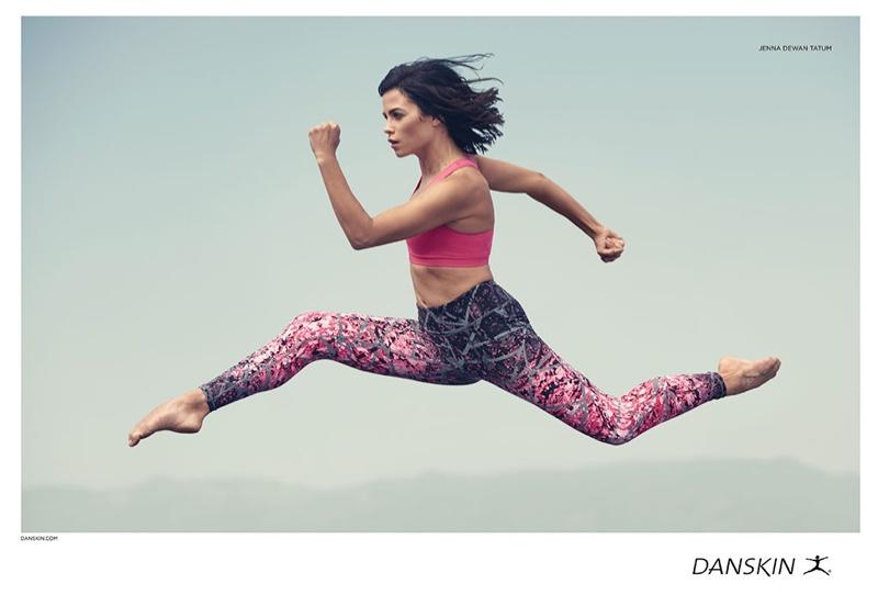 Jenna Dewan Tatum takes a leap in Danskin campaign