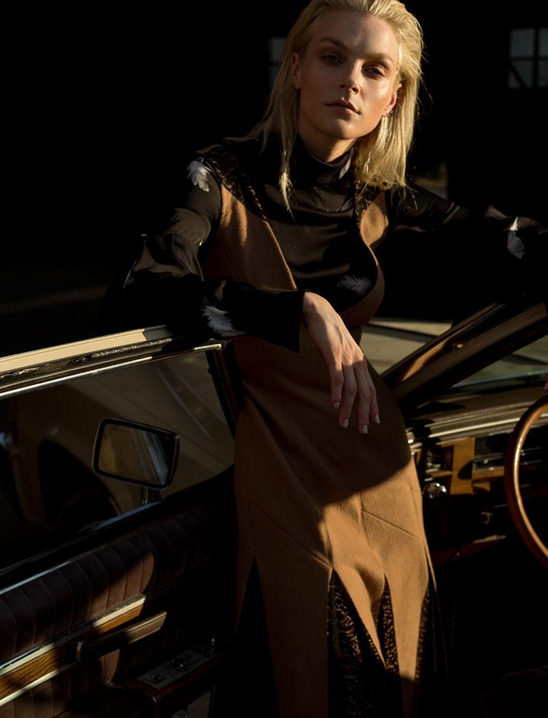 Jessica Stam Rides in Style for Harper's Bazaar Kazakhstan Editorial