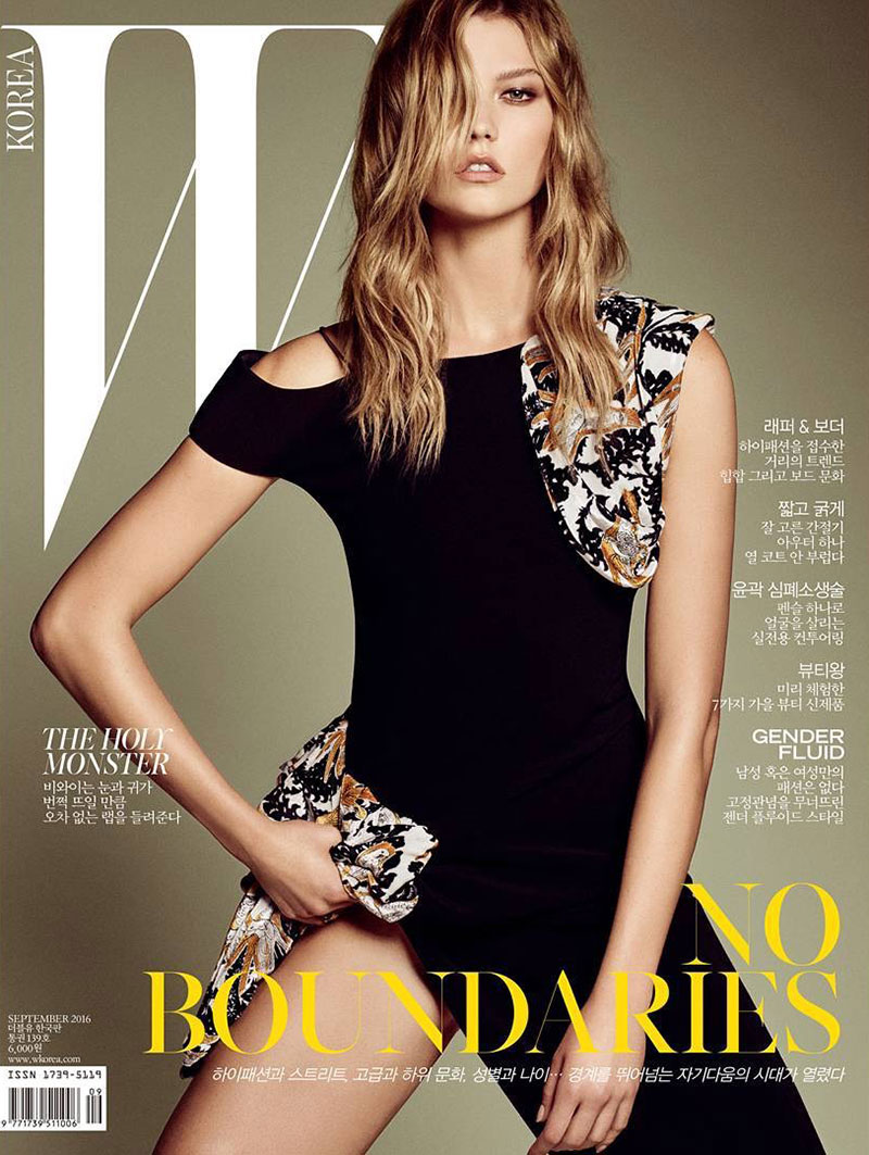 Karlie Kloss on W Korea September 2016 Cover