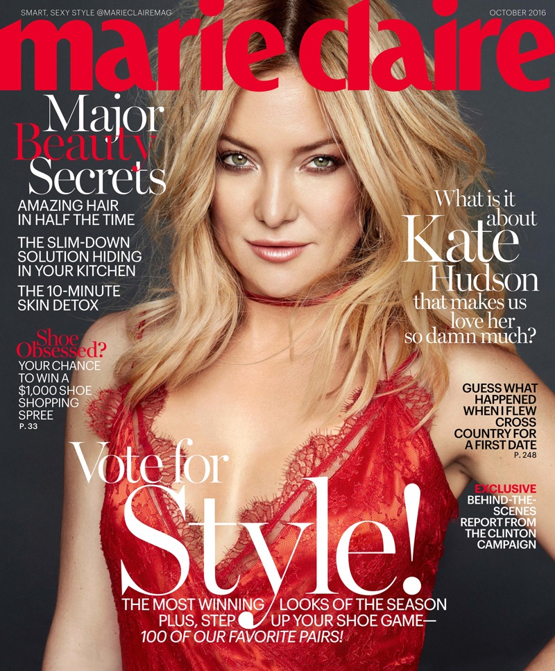 Kate Hudson on Marie Claire October 2016 Cover