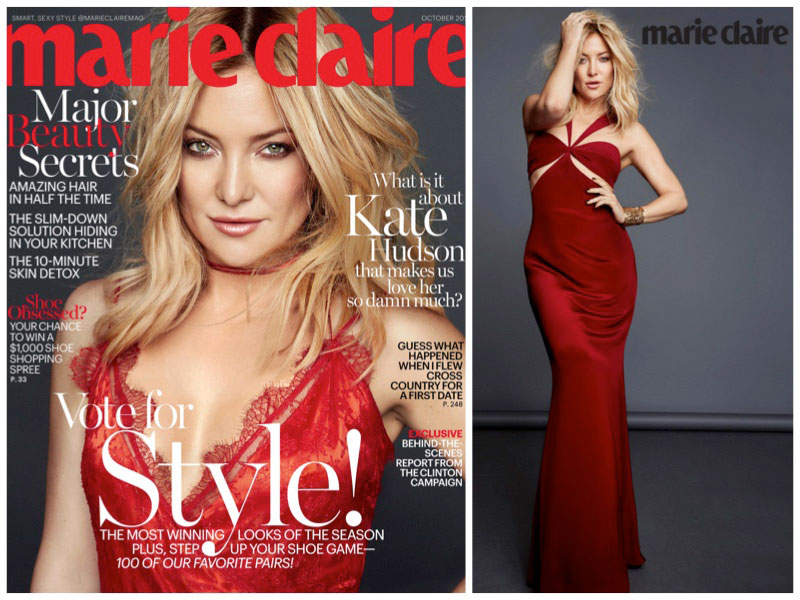 Kate Hudson Looks Red-Hot in Marie Claire Cover Shoot
