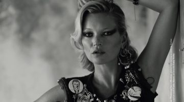 Kate Moss is Rock & Roll Glam for Dazed Magazine
