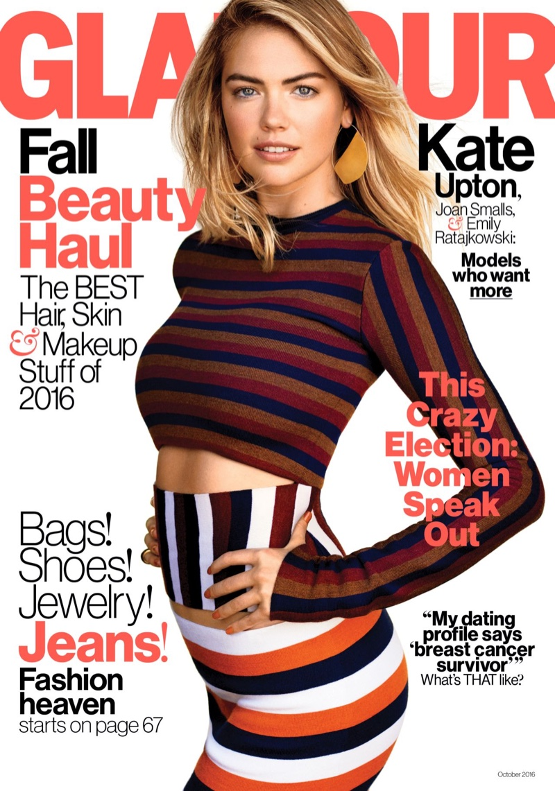 Kate Upton on Glamour October 2016 Cover