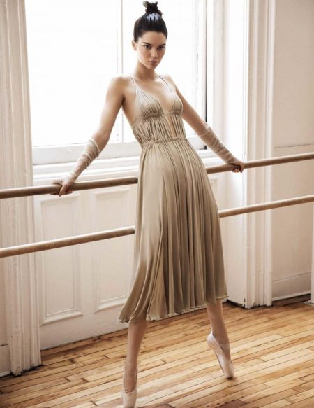 Kendall Jenner Poses in Ballet Inspired Fashions for Vogue Spain