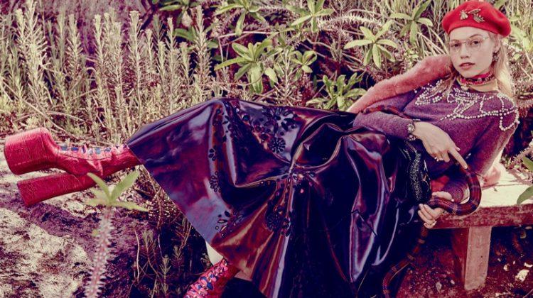 Laura Schellenberg Wears Whimsical Fall Looks in ELLE Canada