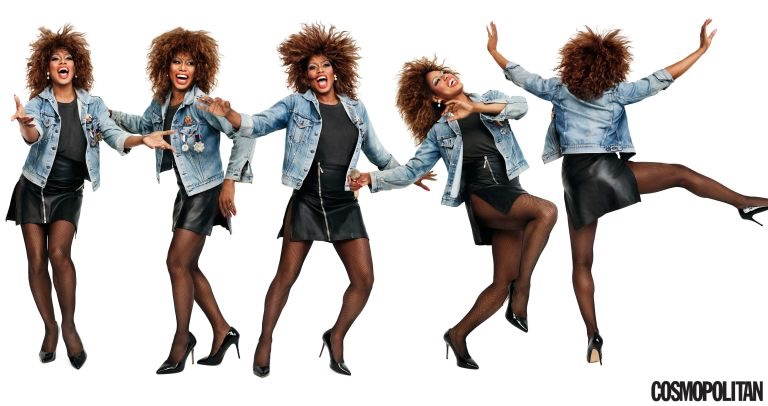 Laverne Cox pays tribute to Tina Turner in fashion shoot