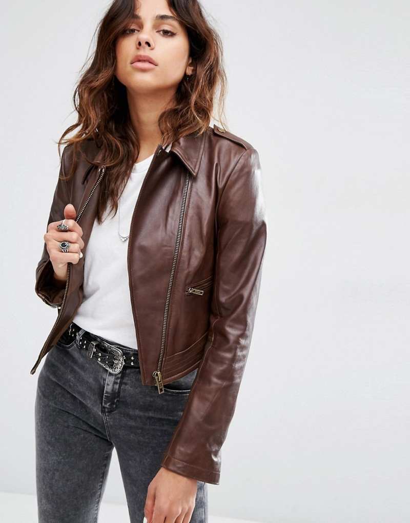 Girl With Leather Jacket | Outdoor Jacket