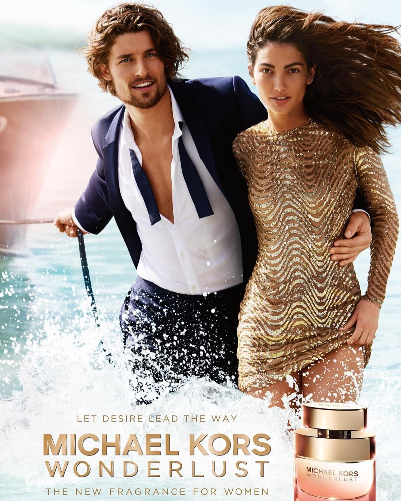 Lily Aldridge stars in Michael Kors' Wonderlust fragrance campaign