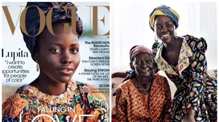Lupita Nyong'o Poses in the Season's Best Prints for Vogue