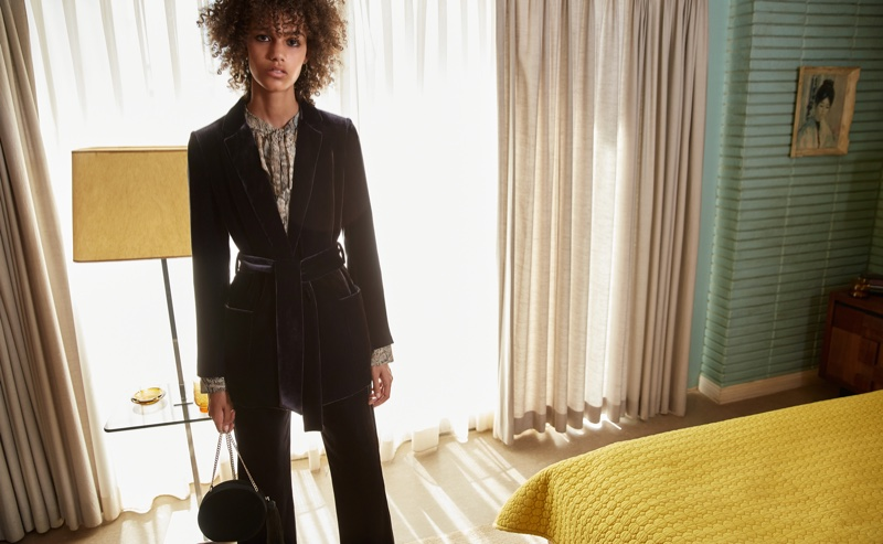 Shelby Hayes stars in Mango's October 2016 campaign