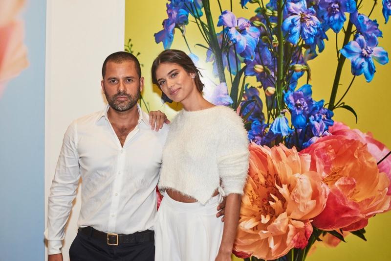 Mariano Vivanco and Sara Sampaio at Portraits Nudes Flowers exhibit in New York. Photo courtesy - Mariano Vivanco