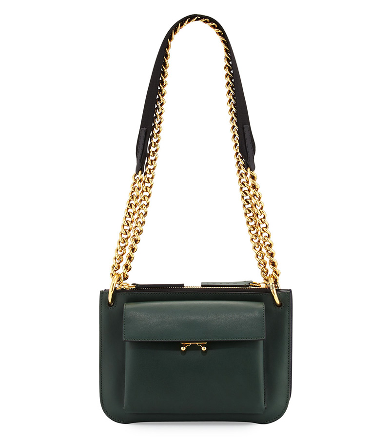 Marni Bandeleer Leather Shoulder Bag