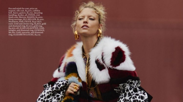Martha Hunt Hits the Streets in Fall Statement Pieces for ELLE
