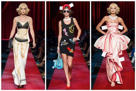 Moschino Brings Paper Dolls to Life for Spring 2017