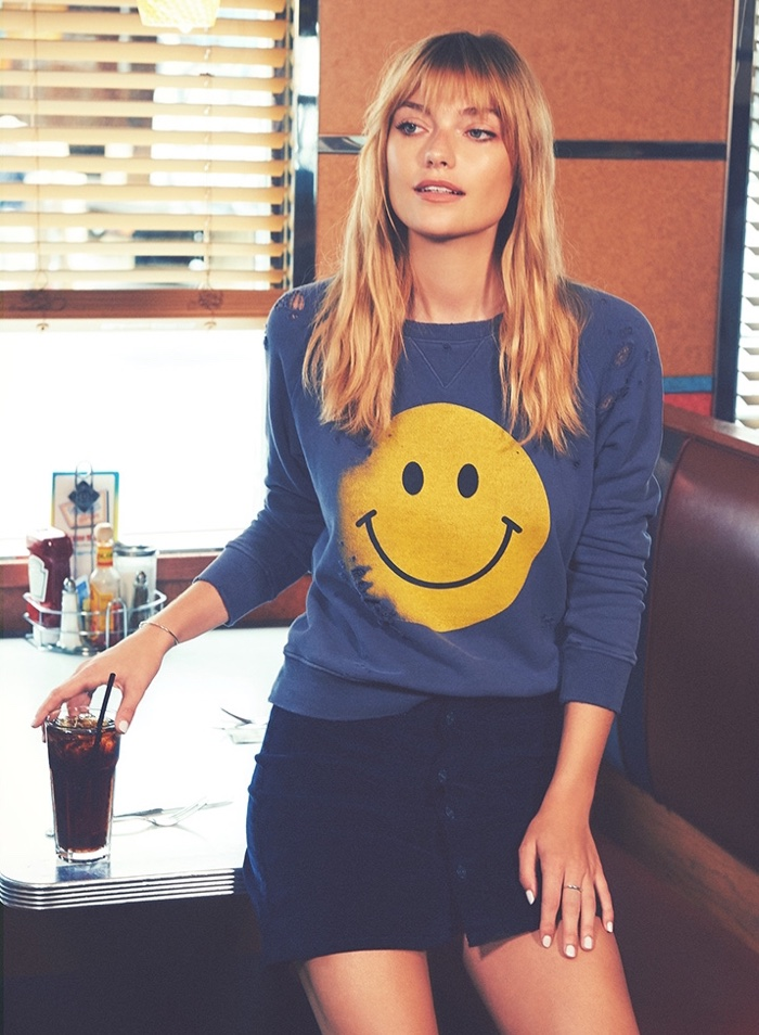 MOTHER The Square Sweatshirt and Patch Pocket Miniskirt