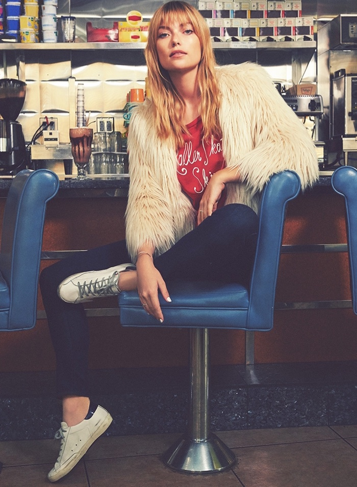 MOTHER The Boxy Jacket, Little Goodie Tee, The Looker Jeans and Golden Goose Superstar Sneakers