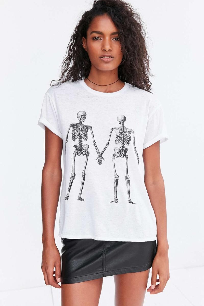 Urban Outfitters Mouchette Double Take Skeleton Tee