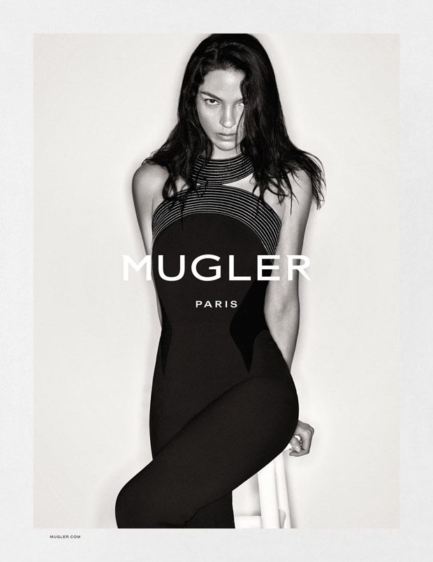 Mugler features its signature bodycon silhouettes in fall 2016 advertising campaign