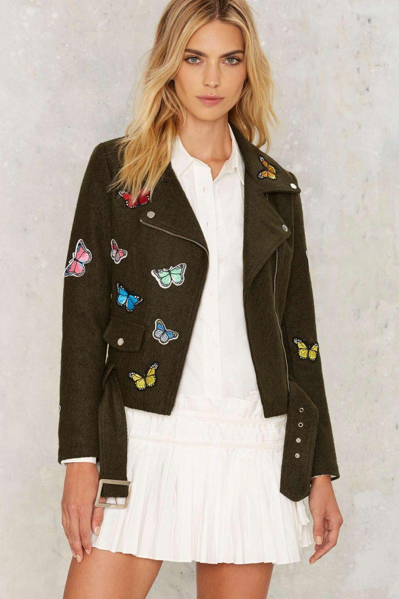 Nasty Gal Butterfly Effect Wool Moto Jacket