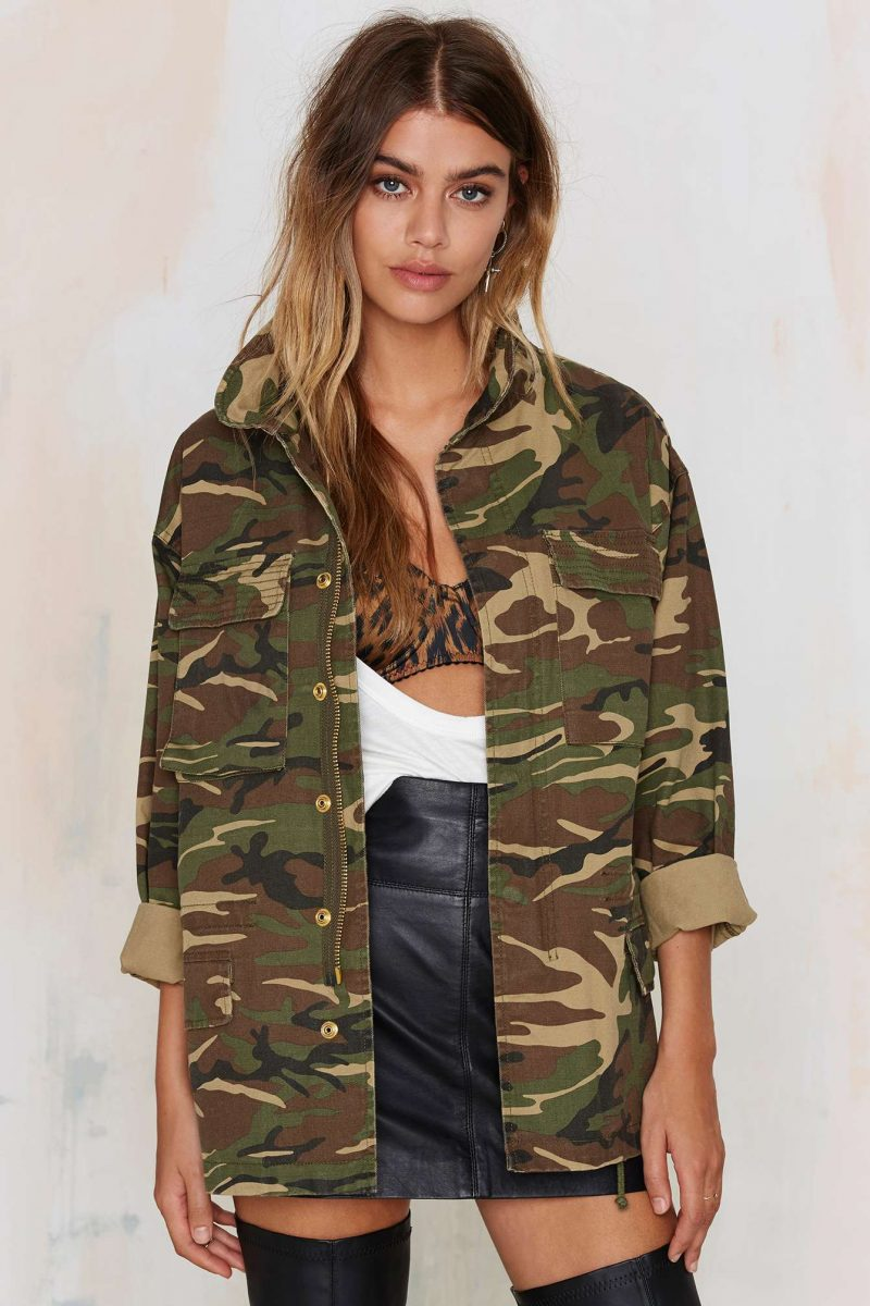 Nasty Gal Femme Fatality Army Jacket