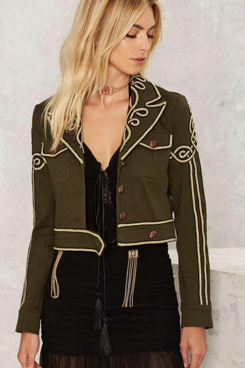 Nasty Gal Got Your Six Soutach Military Jacket