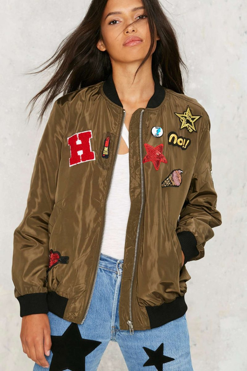 Nasty Gal What the Patch Bomber Jacket
