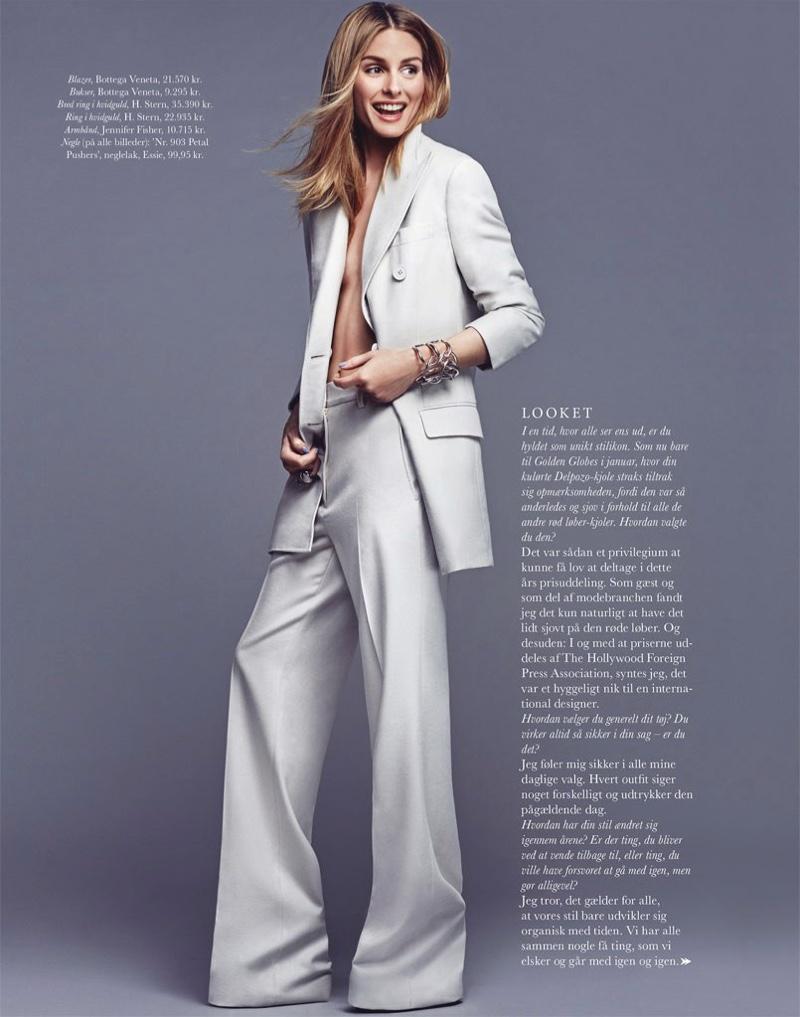 Olivia Palermo suits up in Bottega Veneta blazer and pants