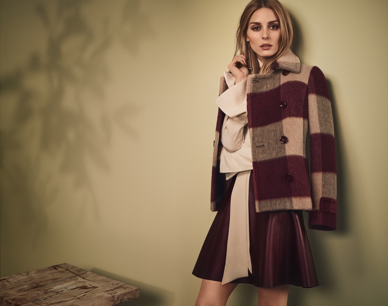 Olivia Palermo embraces plaid with a checkered jacket from MAX&Co.