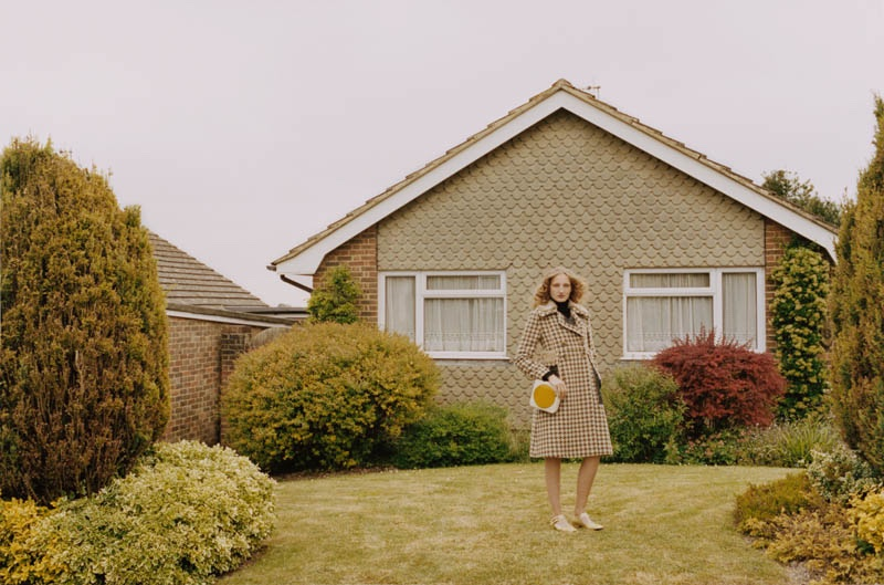 Orla Kiely features checkered coat in fall 2016 campaign